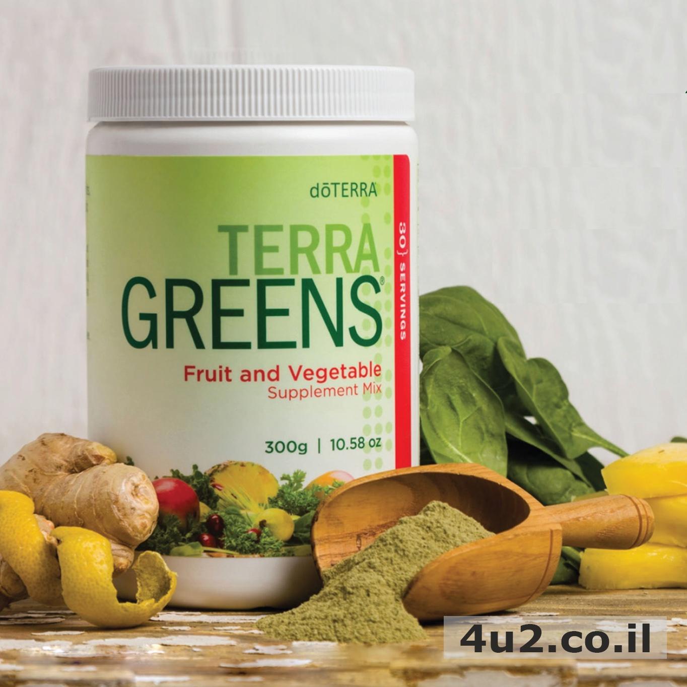 טרה גרין, משקה ירוק עם פירות